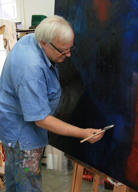 Dieter Wendel bei der Arbeit